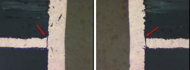 <p>Inner Layer Separation, which is non-conforming per <strong>IPC-A-600J, section 3.3.6.</strong></p>