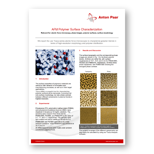 AFM Polymer Surface Characterization