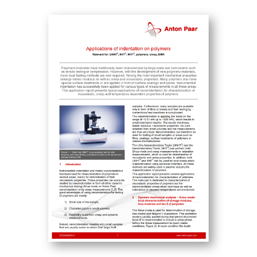 Applications of indentation on polymers