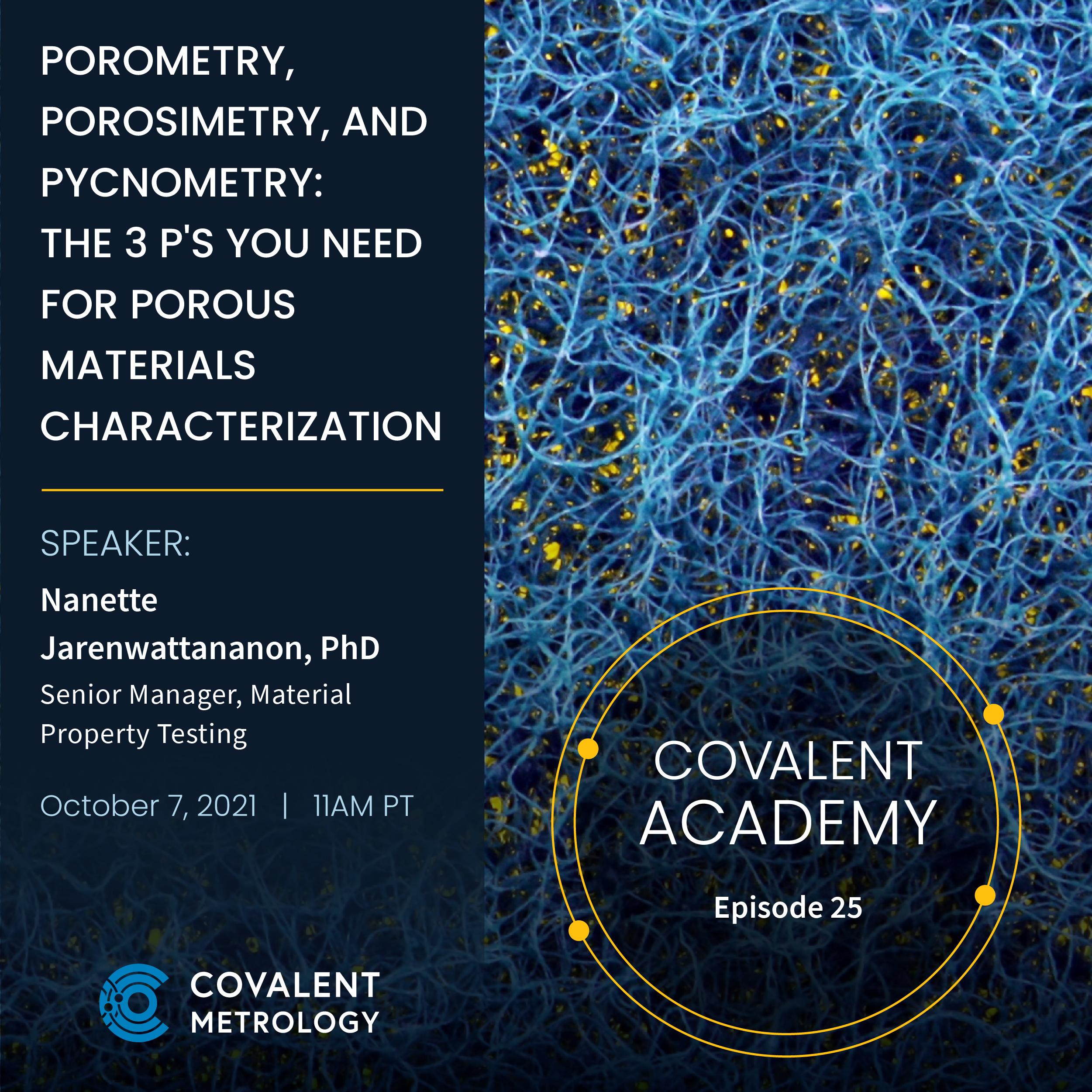 Porometry, Porosimetry, and Pycnometry: the 3 P's You Need for Porous Materials Characterization