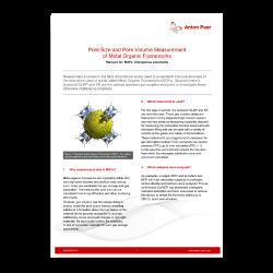 Pore Size and Pore Volume Measurement of Metal Organic Frameworks