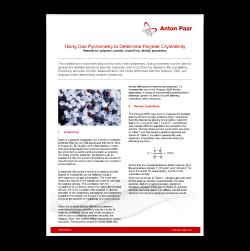 Using Gas Pycnometry to Determine Polymer Crystallinity