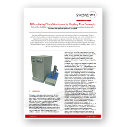 Differentiating Filters/Membranes by Capillary Flow Porometry
