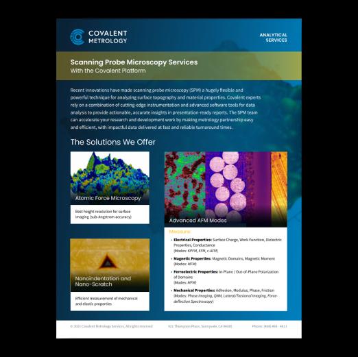 Scanning Probe Microscopy Services