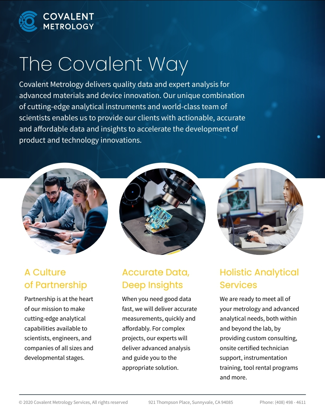 Covalent Metrology Overview