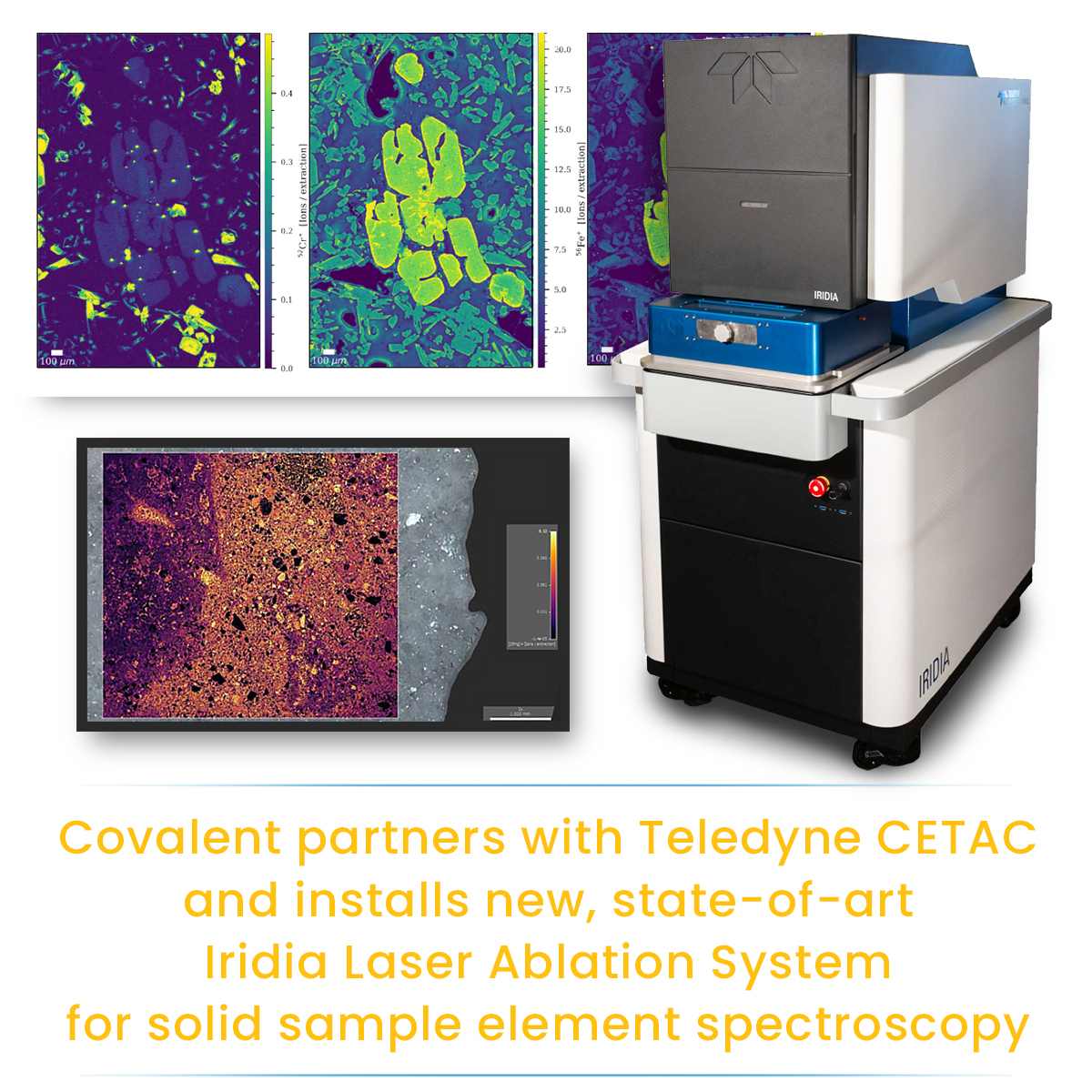 Covalent Metrology and Teledyne CETAC Technologies Announce New Partnership to Advance Research in Analytical Chemistry Applications and Instrumentation